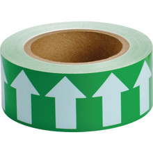 Directional Flow Arrow Tape Green/White