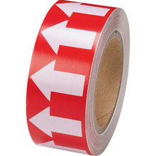 Directional Flow Arrow Tape Red/White