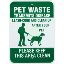 Fido House Pet Waste Station Sign, Green