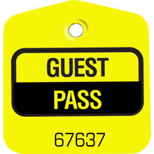 Recreational Pool Pass, Yellow Package Of 100
