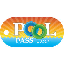 Recreational Pool Pass, Tubular Package Of 100