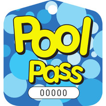 Recreational Pool Pass, Bubbles Package Of 100