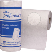 Georgia-Pacific Preference White Perforated Roll Towel, Case of 30