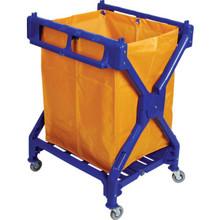 6 Bushel Plastic Folding X-Frame Laundry Cart Cart