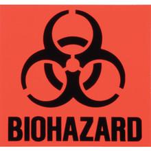 "Rubbermaid 6 x 6"" Biohazard"" Identification Label"
