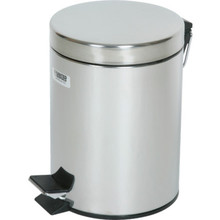 1.5 Gallon Rubbermaid Medi-Can Stainless Steal Step Can