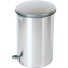 3.5 Gallon Rubbermaid Defenders Stainless Steal Step Can
