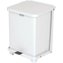 7 Gallon Rubbermaid Defenders White Step Can
