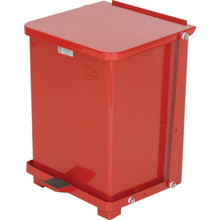 7 Gallon Rubbermaid Defenders Red Step Can