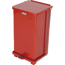 12 Gallon Rubbermaid Defenders Red Step Can