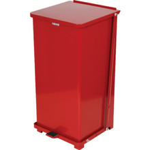 24 Gallon Rubbermaid Defenders Red Step Can