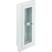 Steel Fire Extinguisher Cabinet Semi-Recessed Mount