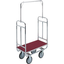 HarlOff Chrome-Plated Heavy Duty Bellman's Cart Red Deck
