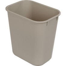 13 5/8n Quart Rubbermaid Beige Wastebasket