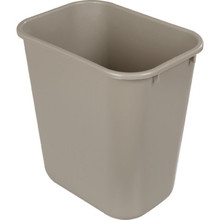 28 1/8 Quart Rubbermaid Beige Wastebasket
