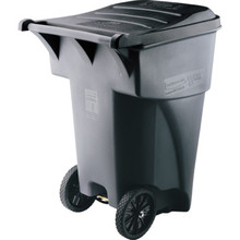 95 Gallon Rubbermaid Brute Gray Rollout Trash Can