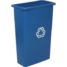 Rubbermaid Slim Jim 23 Gallon Trash Can, Recycle