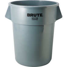 55 Gallon Rubbermaid Brute Gray Trash Can