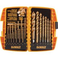 DeWalt 21-Piece Titanium Pilot Point Drill Bit Set