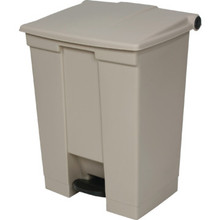 12 Gallon Rubbermaid Beige Step Can