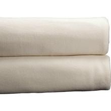 Cotton Bay Ashby Fleece Blanket Queen 90x90 Ivory