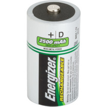 D Energizer Rechargeable NiMh Battery, Package of 2