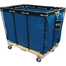 12 Bushel Vinyl Knockdown Basket Truck Blue