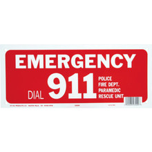 "Pool Safety Sign ""Emergency 911"""