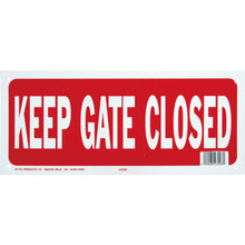 "Pool Sign ""Keep Gate Closed"""