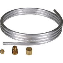 "5' x 1/4"" O.D. Gas Heating Aluminum Tubing"