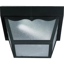 Outdoor Fluorescent Ceiling Fixture, 13 Watt, Black, Matte Acrylic Lens