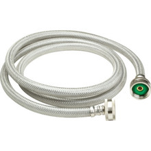 "5' SS WASHING MACHINE HOSE ""PKG OF 2"""