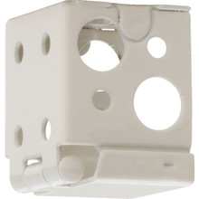 White Installation Bracket Deluxe Vinyl/Aluminum Package Of 2