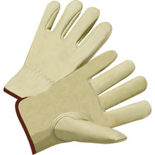 Glove Keystone Thumb Cowhide Leather Driving - Medium