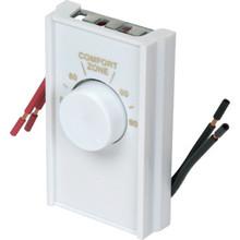 Ivory DoublePole Line Volt Thermostat Cover
