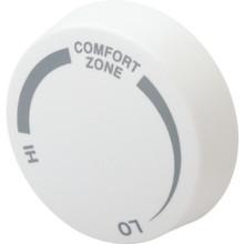 Cadet White Single Pole Baseboard Thermostat Knob