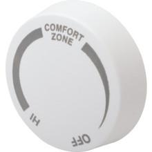 Cadet White Double Pole Baseboard Thermostat Knob