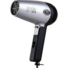 Andis Ceramic/Retractable Cord Handheld 1875 Watt Hair Dryer Blk/Silver