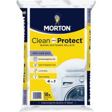 Morton Water Softening Salt Pellets With 2 Mild Cleaning Acids 50 LB Bag