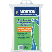 Morton Water Softening Rust Remover Pellets 40 LB Bag