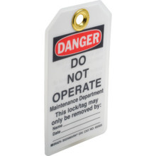 Brady Heavy-Duty Lockout Tag Package Of 25