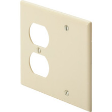 Double Combo Wall Plate- White