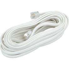 15' White Flat Telephone Base Cord