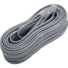 25' 6-Conductor Telephone Base Cord for Voice Communication