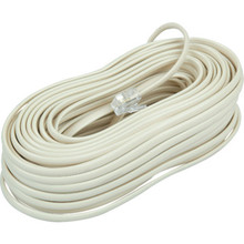 50' Ivory Telephone Base Cord