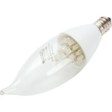 LED Bulb Feit 2W Flame (25W Equivalent) 3000K Candelabra Clear