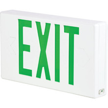LED Battery Back Up Exit Sign Single Or Double Sided