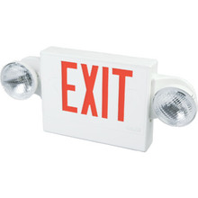 Sure Lites LED Two-Light Emergency Exit Sign Single Or Double Sided