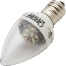 LED Bulb Feit 1W C7 (7W Equivalent) 3000K Candelabra Clear 2pk
