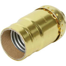Medium Base Socket Keyless Brass Pack of 4